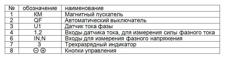 Схема подключения ПЗР 2-3-1 5